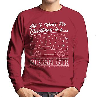 All I Want For Christmas Is A Nissan GTR Men's Sweatshirt