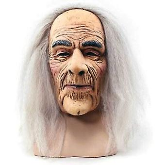 Kammottava vanha mies naamio & hiukset.