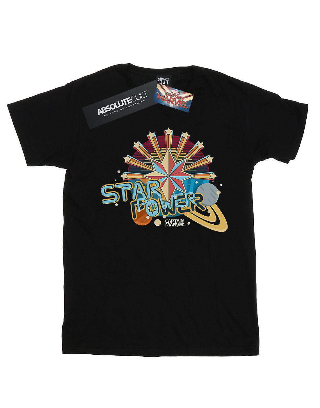 Marvel Men's Captain Marvel Star Power T-Shirt