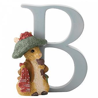 Beatrix Potter Alphabet Letter B Benjamin Bunny Figurine