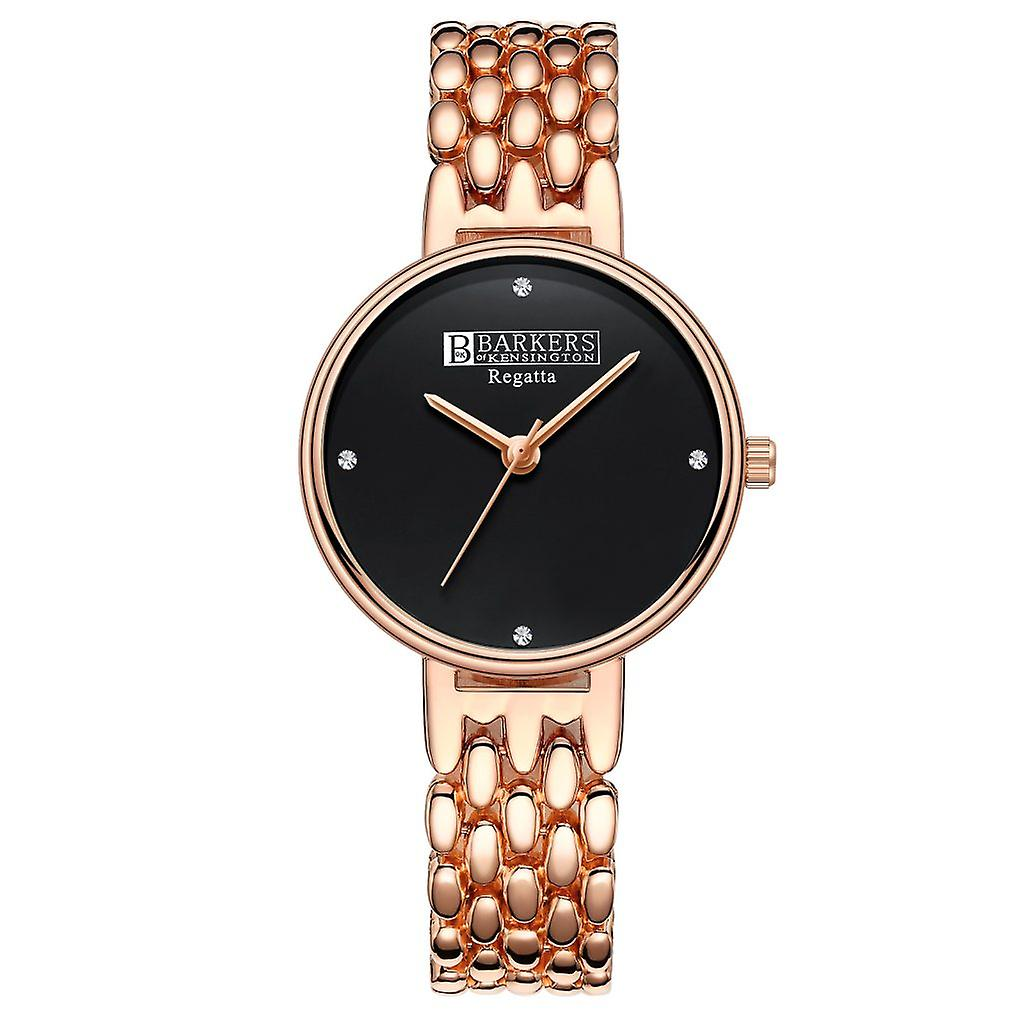 Barkers of Kensington Regatta Black - Black and Gold Ladies Watch