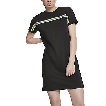 Urban classics ladies - Taped Freech Terry dress black