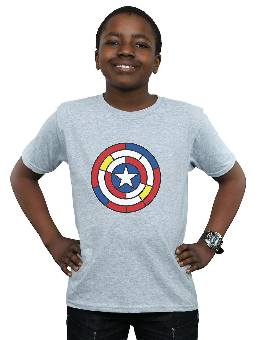 Marvel Boys Captain America Stained Glass Shield T-Shirt