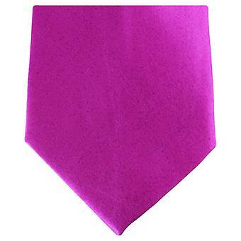 Knightsbridge Krawatten regelmäßige Polyester Krawatte - Hot Pink
