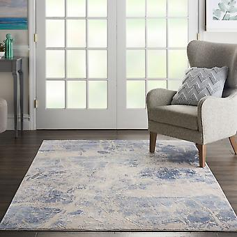 Silky Textures SLY02 Blue Cream  Runner Rugs Modern Rugs