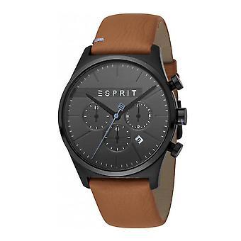 Esprit ES1G053L0035 Ease Chrono Black Brown Men's Watch Chronograph