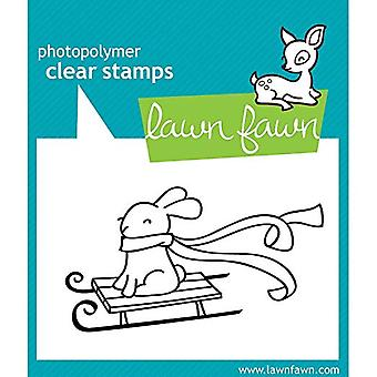 Pelouse Fawn timbres de Noël hiver Bunny (LF327)