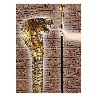 Wandelstok accessoires met slang hoofd farao