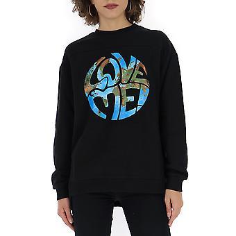Alberta Ferretti 17026660j0555 Dames's Black Cotton Sweatshirt