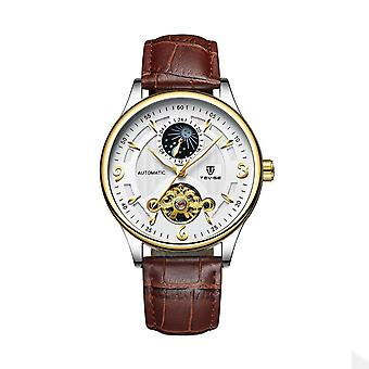 Tevise Mens Homage Automatic Mechanical Watch White Silver Blue Smart Watches T829