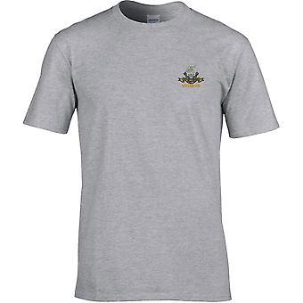 Duke Of Wellington Regiment Veteran - Camiseta Premium bordada con licencia del Ejército Británico