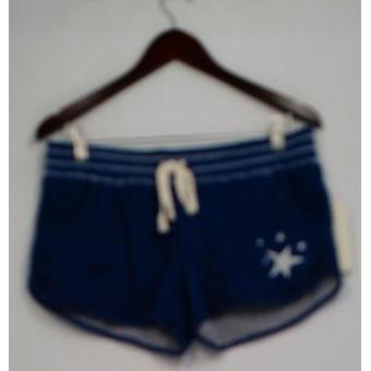 P.J. Salvage shorts elastische koord taille bedrukt marineblauw