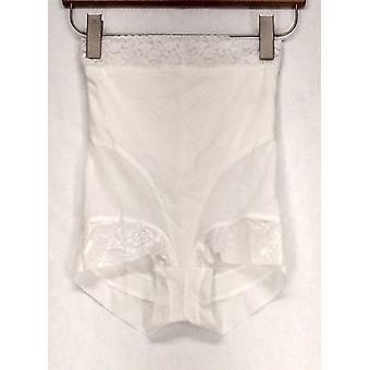 Slim 'N Lift Lace Detail Briefs White Shaper