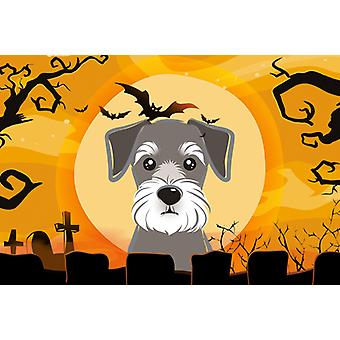 Carolines Treasures  BB1764PLMT Halloween Schnauzer Fabric Placemat