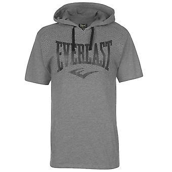 Everlast Mens Hooded T Shirt Crew Neck Tee Top Short Sleeve Lightweight Kangaroo