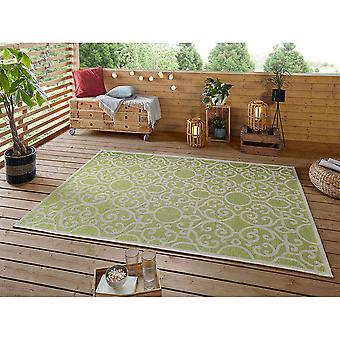 Design Indoor and Outdoor Rug Nebo Lime Green Taupe
