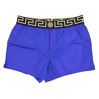 Versace Medusa Waistband Swim Shorts Bluette