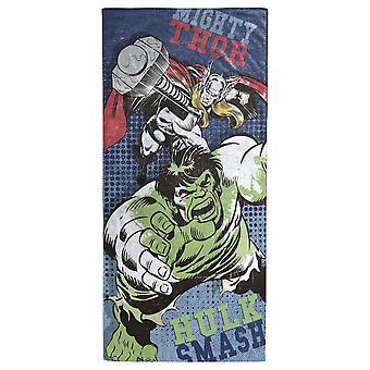Avengers Thor and Hulk Beach Towel