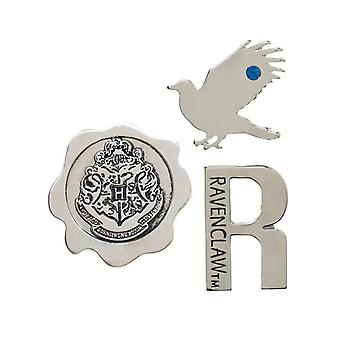 Harry Potter Lapel Pin casa Ravenclaw embleme nou oficial metal 3 Pack