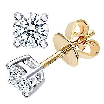 Naava Women's Pin Earrings in Yellow Gold 9K