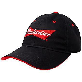 Chapeau noir réglable Budweiser Beer Logo