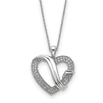 925 Sterling Silver polerad gåva Boxed Spring Ring Rhodium pläterad CZ Cubic Zirconia Simulerad Diamond Forever Grateful