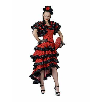 Espagnol Flamenco Women's Costume Olé Espagne Espagne Costume Dancer Theme Party Carnival Ladies