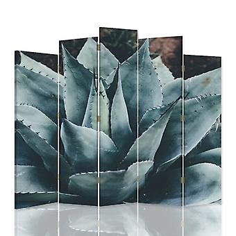 Dekorative Zimmerteiler, 5 Panels, Leinwand, Agave 2