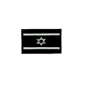 Patch Ecusson Brode Thermocollant Flag Israel Israelien Camo Airsoft musta
