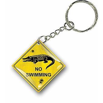 Porte Cles Clefs Keychain Voiture Maison No Swim Australie Panneau Road Sign