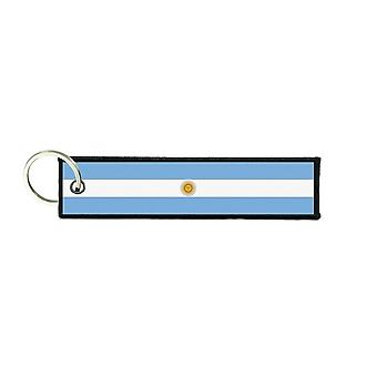 Port Cles Key Cle Homme Homme Fabric Brode Prints Argentine Flag