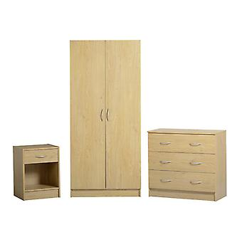 Bellingham Bedroom Set Oak Effect Veneer