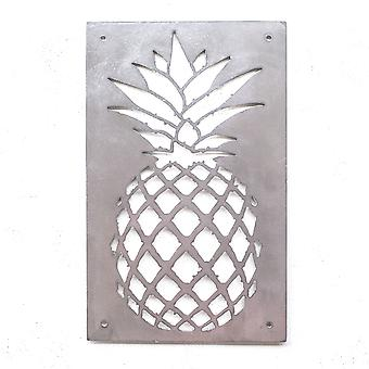 Ananas plaque-Metal cut teken 12 x 8 in