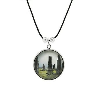 Outlander Inspired Handcrafted Scottish Cabochon Standing Stones Wisiorek - Mały