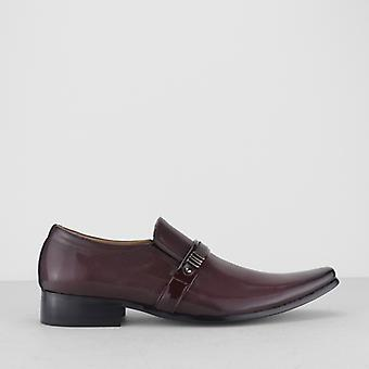 Mister Carlo Dauphin Mens Pointed Slip On Shoes Wine
