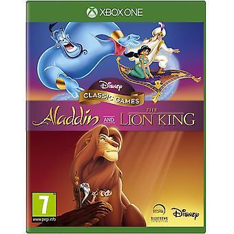 Disney Classic jocuri Aladdin & regele leu Xbox un joc