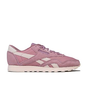 Womens Reebok Classics Nylon Trainers In Infused Lilac / Pale PinkLow-Cut
