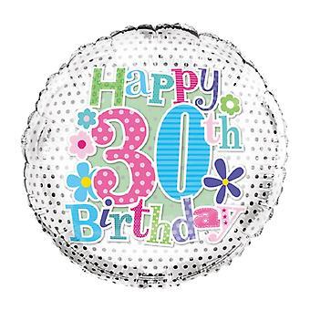 Simon Elvin Foil Balloon with 30th Birthday Design