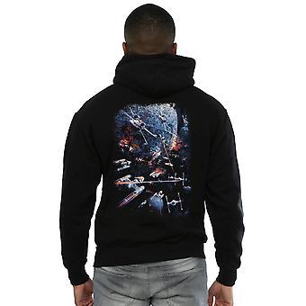 Star Wars Men's Galactic Battle Zip Up sudadera con capucha