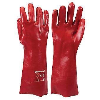 Red PVC Gauntlets - L 10