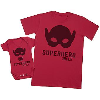 Superhero Nephew - Uncle T Shirt & Baby Bodysuit