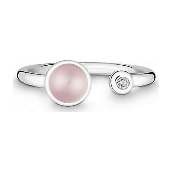 QUINN - Ring - Silver - Gemstone - Pink Quartz - Wess. (H) - Width 56 - 21191630