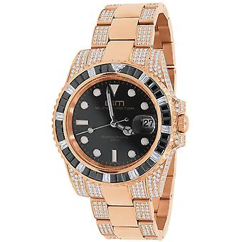 High Quality Iced Out Zirconia stainless steel watch - rose gold