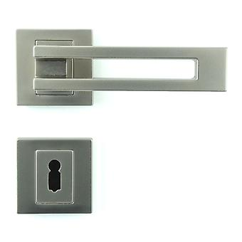 Premium Quality M4TEC ZA6 Interior Door Handle – Made Of Die-Cast Zinc – Gloss Nickel -Plated Finish – Sturdy, Durable & Easy To Install – Elegant & Classy Design - Ideal For Room Entrance Doors
