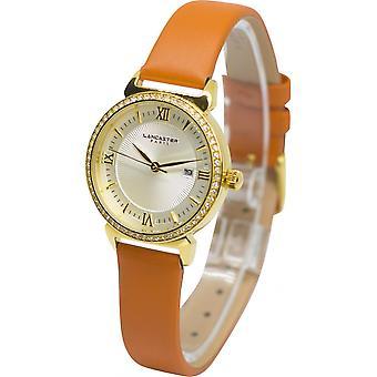 Lancaster watch watches LPW00153 LIBERTÀ - watch LIBERTÀ leather Orange woman