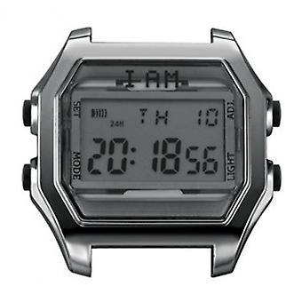 Watch I Am The Watch IAM-101 - Bo tier Aspect M tal Gun Glass Grey Buttons Black / Horn Set 20 mm