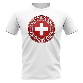 Switzerland Football Badge T-Shirt (White)