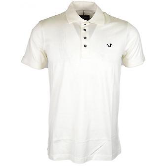 True Religion Metal Logo Cotton White Polo