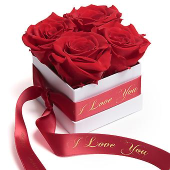 Roses Box White Eternal Roses Red I Love You Gift