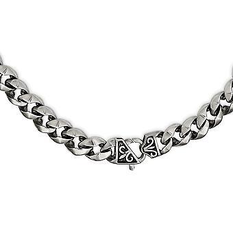 Edelstahl und gebürstete Pistole Metall Finish Kette Halskette 22 Zoll Schmuck Geschenke für Frauen